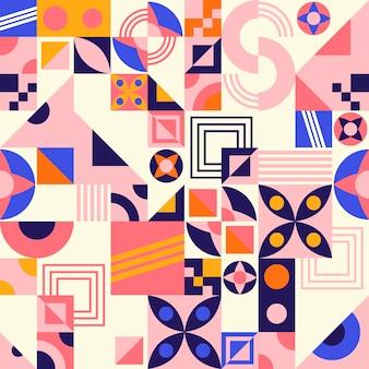 Flat mosaic pattern