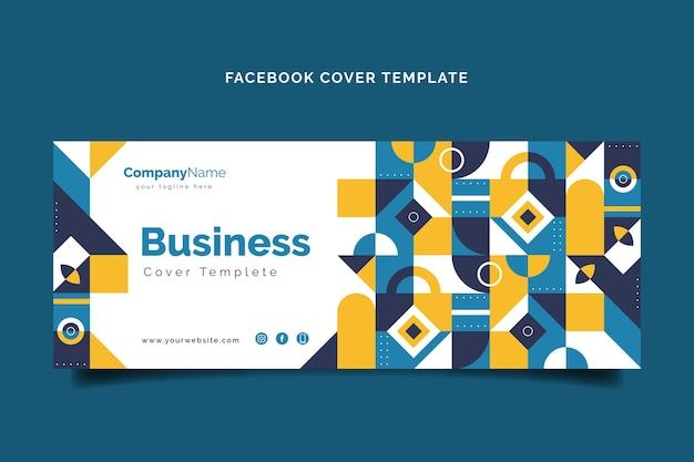 Flat mosaic social media cover template