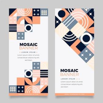 Set di banner verticali a mosaico piatto