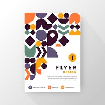 Flat mosaic vertical flyer template