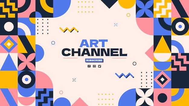 Flat mosaic youtube channel art