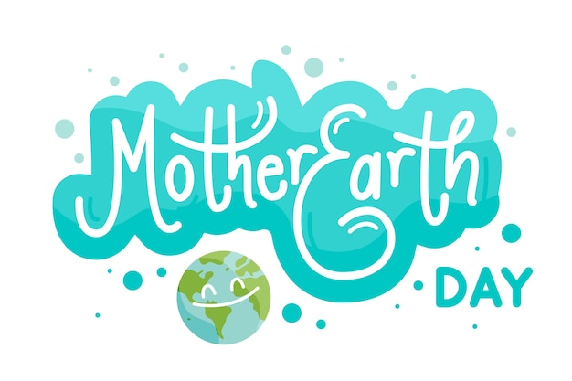 Flat mother earth day concept