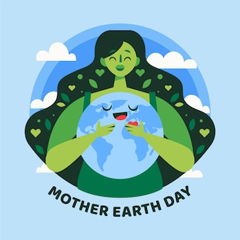 Flat mother earth day event