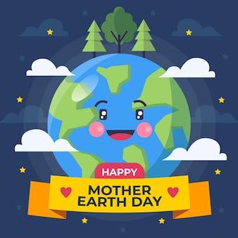 Piatto madre terra giorno illustrazione