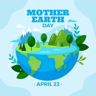 Flat mother earth dayillustration