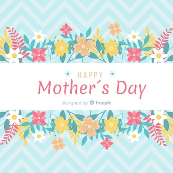 Flat mother's day background