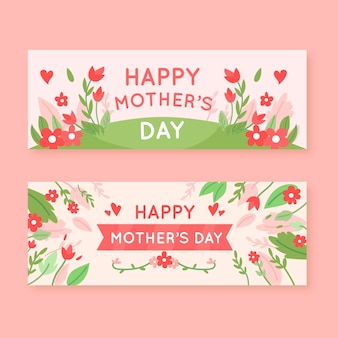 Набор плоских баннеров ко дню матери