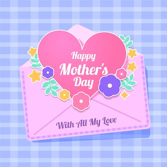 Flat mother's day concept