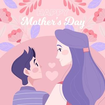 Illustrazione di festa della mamma piatta
