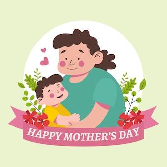 Плоская иллюстрация дня матери
