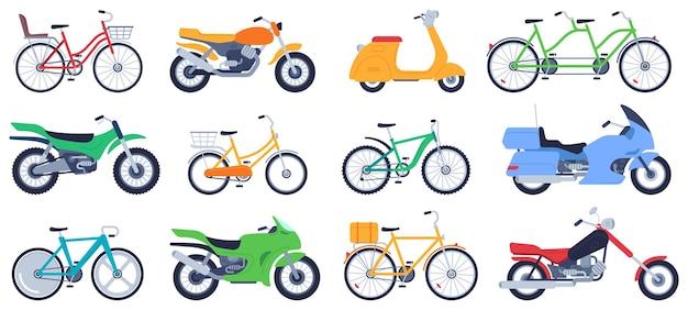 플랫 오토바이 세트