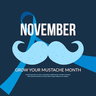 Flat movember event for raising awareness