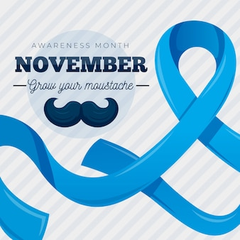 Flat movember grow your moustache
