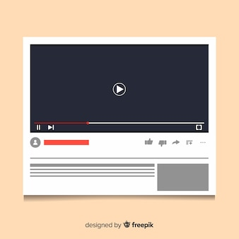 Flat multimedia player template