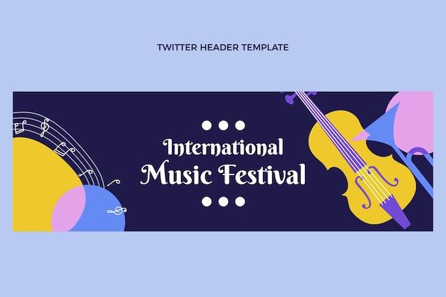 Flat music festival twitter header