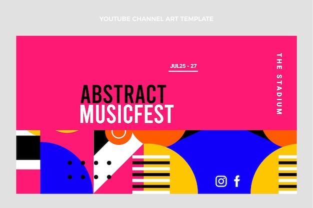 Фестиваль плоской музыки канал на youtube искусство Бесплатные векторы