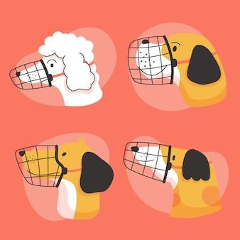 Confezione per cani con museruola piatta