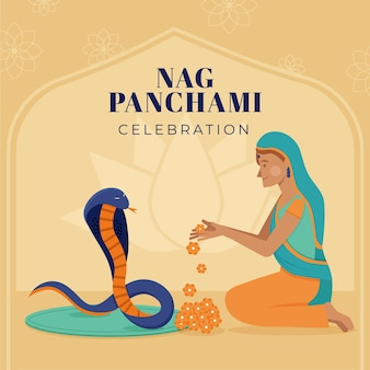 플랫 nag panchami 그림