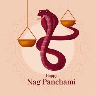 Illustrazione di panchami piatto nag