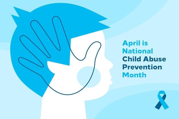 Flat national child abuse prevention month illustration