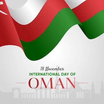 Flat national day of oman event