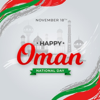 Flat national day of oman
