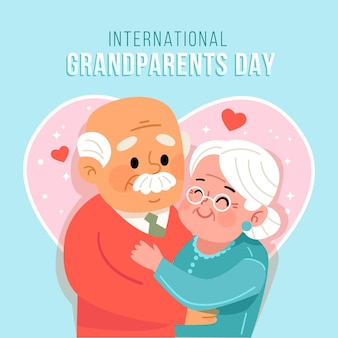 Flat national grandparents day usa