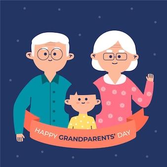 Flat national grandparents' day usa