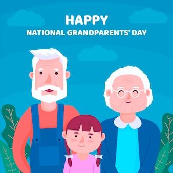 Flat national grandparents day usa