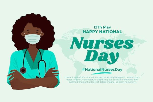Flat national nurses day illustration
