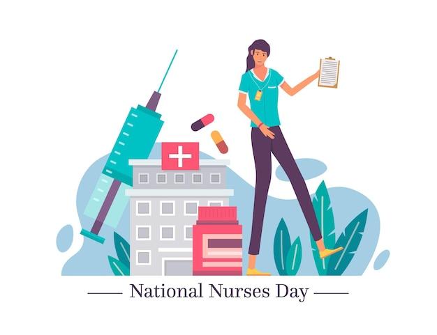 Плоский национальный день медсестер