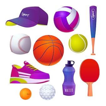 フラットな国民体育の日の要素コレクション