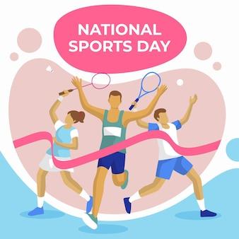 Illustrazione piatta della giornata sportiva nazionale