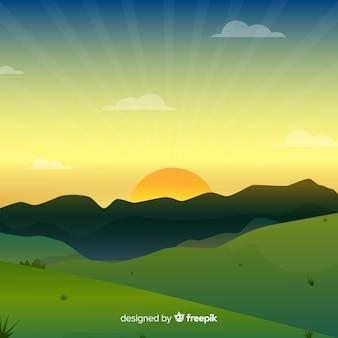 풍경과 평면 자연 배경