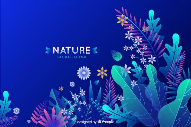 Flat nature backgroound
