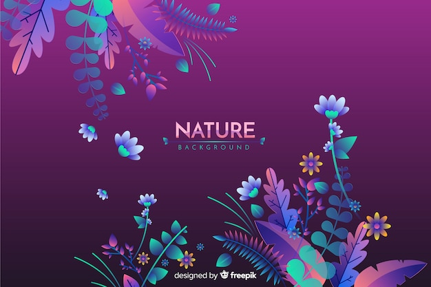 Flat nature background