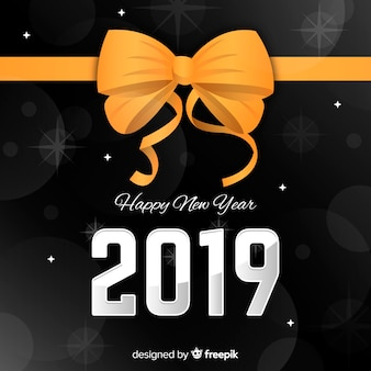 Flat new year 2019 background