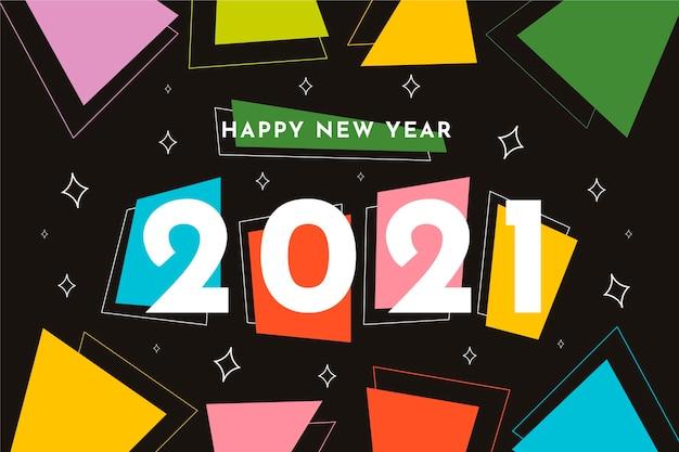 Плоский новый год 2021 фон