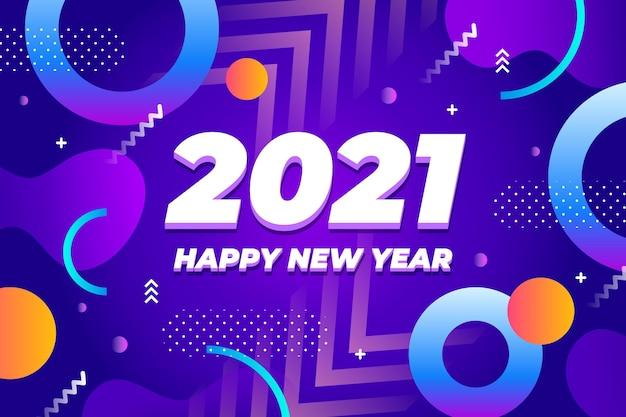 Flat new year 2021 background