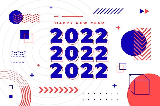 Flat new year background