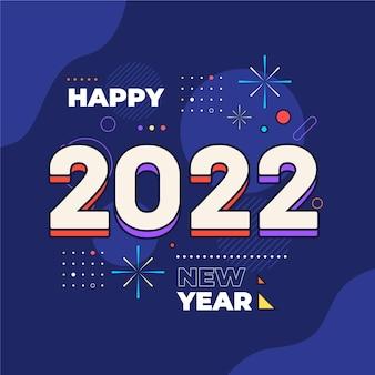 Illustrazione piatta del nuovo anno