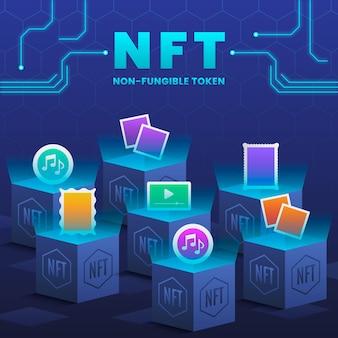 フラットnftコンセプト