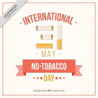 マンション無タバコ日の背景ません