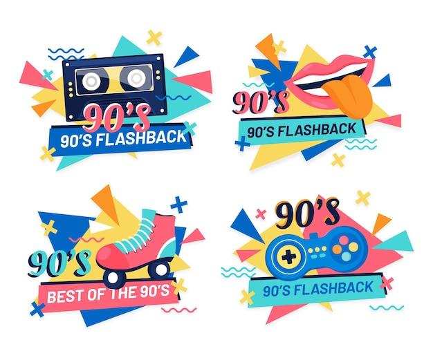 Distintivi piatti nostalgici degli anni '90