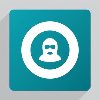 Flat offender icon, white on green background