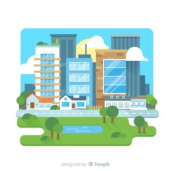 Fondo piano dell'edificio per uffici
