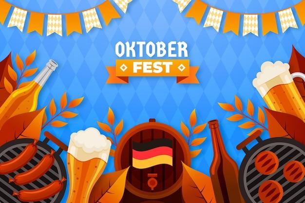 Sfondo piatto dell'oktoberfest
