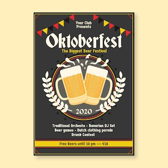 Poster del festival piatto più oktoberfest