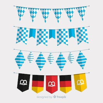 Flat oktoberfest garland collection