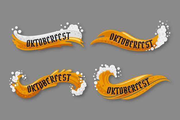 Плоская коллекция лент октоберфест